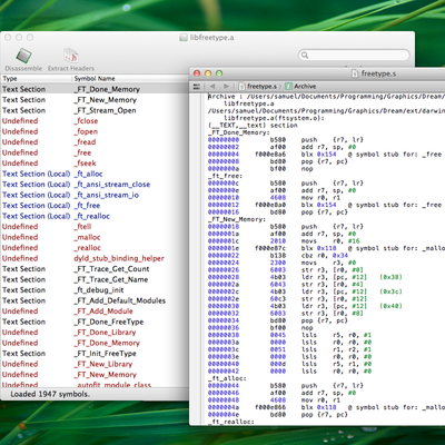 Disassemble code for debugging and reverse engineering.